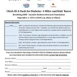 Dash for Diabetes 2014 sponsor form
