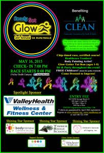 Final Glow Run Poster 2015