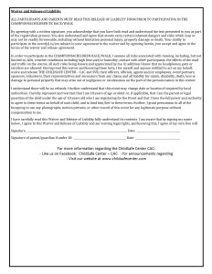 2015 Race Reg waiver